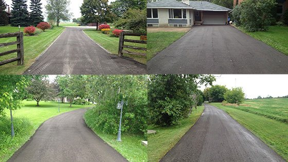 city and country asphalt driveways