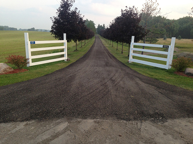 Driveway Construction And Recycled Asphalt Gravel